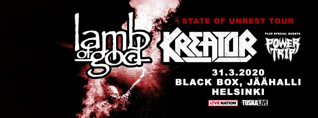 Lamb Of God, Kreator 2020