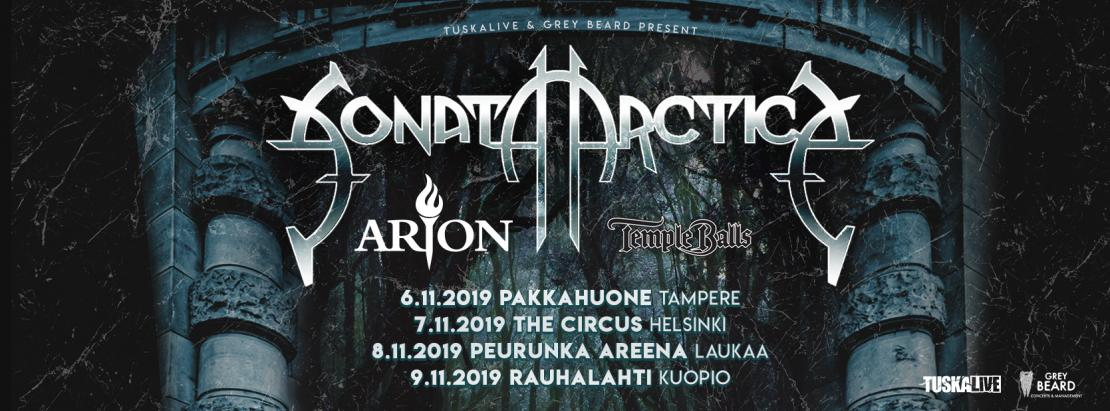 Sonata Arctica syksy 2019